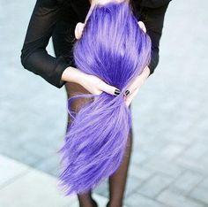 purple colored hair gel
