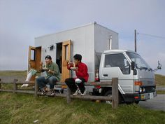 lunch stopover in hokkaido--in a home made camper truck