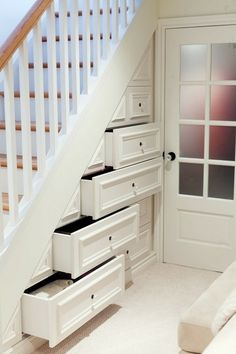 drawers under staircase - Google Search