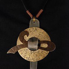 #statementnecklace #pendant #brassjewelry #handcraftedjewelry @metallocraft