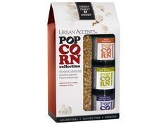 Gourmet Popcorn Collection-this is hands down the best popcorn and seasonings I have ever tasted.  I use this with air popped popcorn and spritz some olive oil in my serving bowl and then sprinkle the seasoning on the hot popcorn and mix all together and you have a tasty and healthy snack!