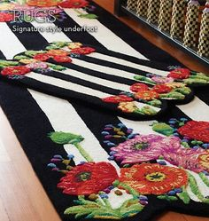 MacKenzie-Childs - MacKenzie-Childs - Signature MacKenzie-Childs Rugs (love the color contrasts - possible dining room idea?)