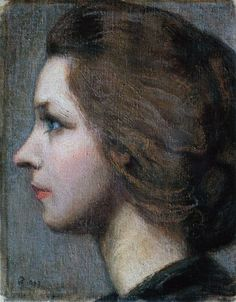 Portrait Of Anna Stina Sloor by Akseli Gallen Kallela Aka Axel Gallen Art Reproduction from Cutler Miles - Hand Painted Oil on Canvas Paintings. Helene Schjerfbeck, Portraits, Portrait Art, Prinz Eugen, Bad Picture, Old Master, Master Art, European Paintings, Beauty Art