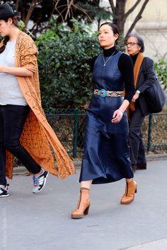 helluva dress. #RachaelWang in Paris. #WayneTippetts
