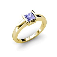 This is a Beautiful 0.90 ct Solitaire Ring With December Birthstone Tanzanite, representing Confidence.