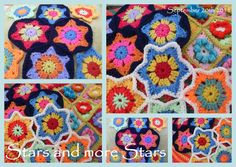 Suz Local: Crochet Flower em uma estrela .. pronto para o Natal 2011
