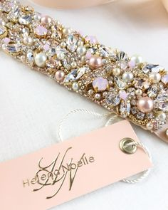 Our signature cluster style sashes can be customized in any way. Coordinate your accessories with your wedding's color story with Swarovski crystals, satin ribbon and your choice of metallic tone. 💕...xoxo