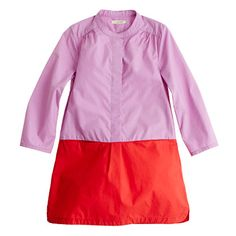 Girls' colorblock poplin dress