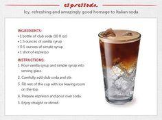 Vanilla Espresso soda