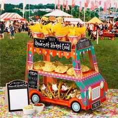 Mexican Fiesta Food Truck stand for birthday parties
