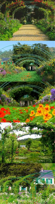 Giverny, France.  Claude Monet's garden.