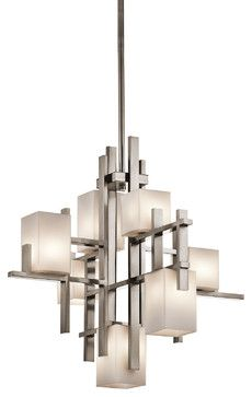 Kichler Lighting 42940CLP City Lights Pewter 7 Light Chandelier