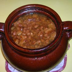 """We lived out side of Boston in a small town when I was in grammar school. I remember a neighbor bringing """"Boston Baked Beans"""" to the house as a welcome to the neighborhood. My mom got the recipe and handed it down to me. Homemade Baked Beans, Baked Bean Recipes, Veggie Recipes, Fall Recipes, Beef Recipes, Snack Recipes, Cooking Recipes, Smoker Recipes, Side Dishes"""