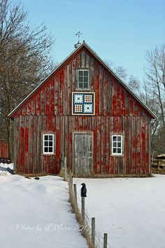 Old Red Snowy Barn… Country Living