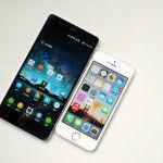 ZTE Nubia Z7 vs iPhone 5S - Outlook és méretének összehasonlítása