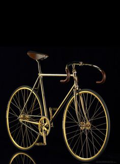 Scandinavian company Aurumania's gold bike crystal edition
