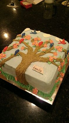 Family Tree Reunion Cake