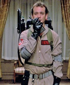 Bill Murray in 'Ghostbusters' Costume Designer: Theoni V. Bill Murray Ghostbusters, Ghostbusters 1984, The Real Ghostbusters, Original Ghostbusters, Movies Showing, Movies And Tv Shows, Maquillage Halloween Simple, Films Cinema, Ghost Busters