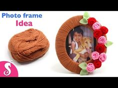 Photo Frame Idea | Make easy Photo Frame using Woolen,Cardboard & Waste Clothe | Best out of waste - YouTube