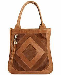 c5bb3aee2 Lucky Brand Baldwin Tote with Haircalf & Reviews - Handbags & Accessories -  Macy's