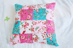 patchwork cushion, granny square cushion