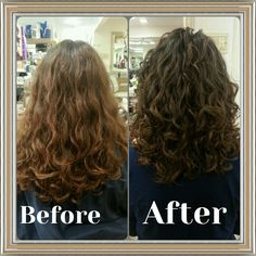 Deva Cut, Before and After…(this looks just like the back of my head…it is kind of creepy) Haircuts For Curly Hair, Curly Hair Cuts, Permed Hairstyles, Pretty Hairstyles, Wavy Hair, Curly Hair Styles, Hair Hashtags, Deva Cut, Layered Curly Hair