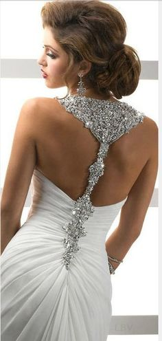 bejeweled wedding gown