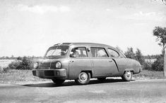 NAMI-013, 1952. A Russian attempt to create an avant-garde automobile for the post-war era. Three different forward control/rear-engined prototypes were made after work on the project began in 1949. However by 1953 the head of the NAMI institute had decided the car was too radical and difficult to produce so the project was abandoned