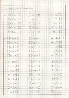 művelet-műveletre_1 - Kiss Virág - Picasa Web Albums 1st Grade Math Worksheets, Preschool Worksheets, Disney Princess Invitations, Hand Crafts For Kids, Math School, School Subjects, Math For Kids, Learning Centers, Math Games