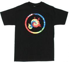 Flip The Bird Rainbow Tiedye (Black) $32.00