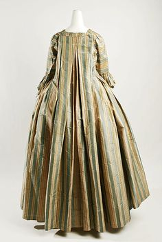 Dress Date: 18th century Culture: French Medium: silk, linen Dimensions: Length at CB: 53 3/4 in. (136.5 cm) Credit Line: Purchase, Irene Le...