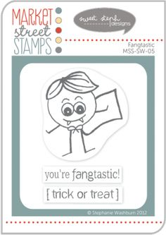 Market Street Stamps - Fangtastic by Stephanie Washburn. $5.