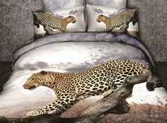 Unique Beautiful Animal Printed Snow Leopard Bedding Set Queen Size Cotton Bed in a Bag Duvet Cover Bed Linen Pillowcase Cheap Bedding Sets, Cotton Bedding Sets, Queen Bedding Sets, Bed Linen Sets, Linen Bedding, Leopard Bedding, Animal Print Bedding, Animal Prints, Queen Size Bed Covers
