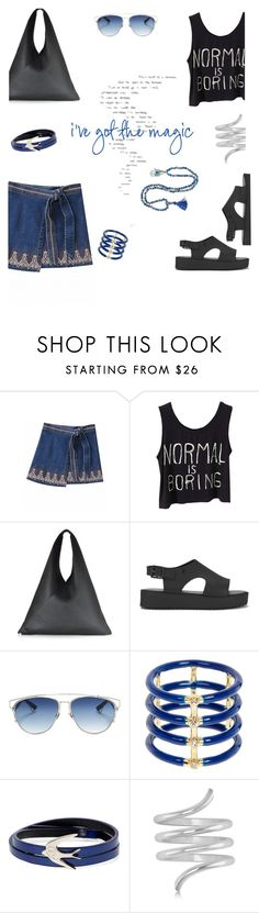 """Normal is boring...!"" by marialibra ❤ liked on Polyvore featuring MM6 Maison Margiela, Melissa, Christian Dior, Elizabeth and James, McQ by Alexander McQueen and Allurez"