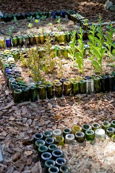 Perfect DIY #backyards idea by Wine Bottle Borders