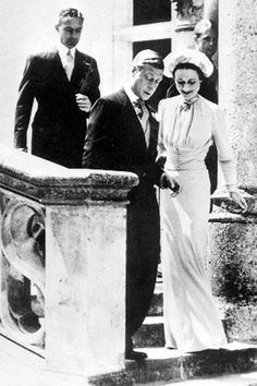 Edward VIII and Wallis Simpson - married in June, 1937 at the Château de Candé in France.