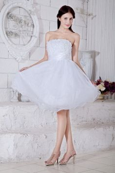 Cheap Cocktail Dresses, Cheap Party Dresses, Cheap Homecoming Dresses, Cheap Bridesmaid Dresses, Bridesmaids, Organza Bridesmaid Dress, Strapless Organza, White Ball Gowns, Evening Dresses