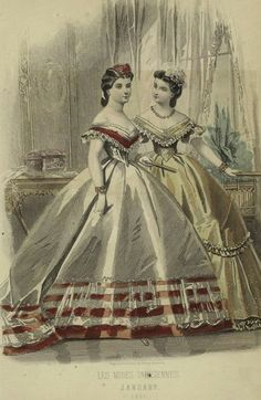 Civil War Era Clothing: Civil War Era Fashion Plate - January 1865 Peterson's Magazine