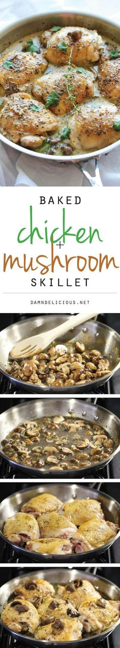 Baked Chicken and Mushroom Skillet