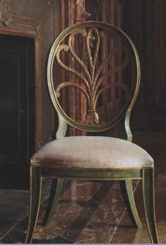 This painted wrought-iron dinner chair from Todd Alexander Romano pairs clean lines with organic embellishments. It's the perfect mix of classic and quirky; a set of these around a contemporary dining table would provide an interesting (not to mention pretty) juxtaposition of style.