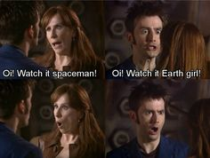 Love them so much! Donna and the Doctor. A pair!!! Doctor Who DoctorDonna!