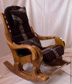 Мебель ручной работы. Заказать кресло качалка. Андрей. Ярмарка Мастеров. КРЕСЛО-КАЧАЛКА, мебель из лиственницы