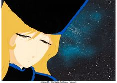 Galaxy Express 999 Maetel Production Cel with Production Background (Toei Animation, c. 1978-81) Galaxy Express, Disney Characters, Fictional Characters, Auction, Animation, Disney Princess, Anime, Art, Art Background