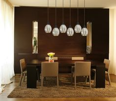 Excellent Mercury Glass Pendant Light Fixtures For Dining Room: Modern Pendant Lighting For Bright Dining Room With Design Decoration Glass Light Fixtures, Dining Room Light Fixtures, Room Lights, Hanging Lights, Ceiling Lights, Hanging Lamps, Lights Over Dining Table, Dining Room Table, Dining Decor