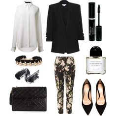 """""""Flowery pants"""" by queen-95 on Polyvore"""