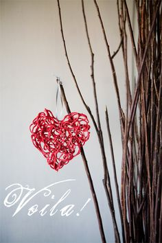 Yarn Hearts. These could be made in any shape so long as you found a cookie cutter/mold for it.