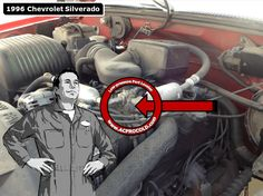 1996 Chevrolet Silverado 1500 - Low Side Port for A/C Recharge #acprocold #acpro #r134a #refrigerant - www.acprocold.com