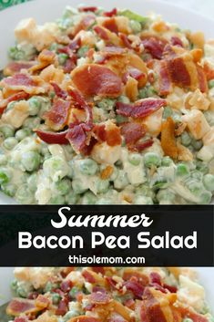 Summer Bacon Pea Sal