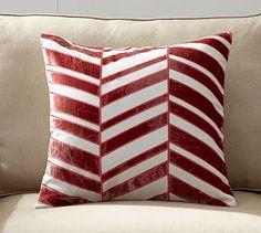"""Velvet Applique Pillow Cover #potterybarn 12"""" x 16"""""""