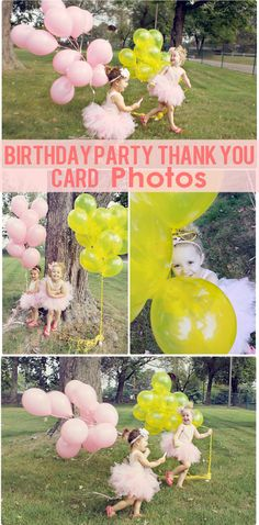 The Busy Budgeting Mama: Birthday Party-Thank You Card Photos